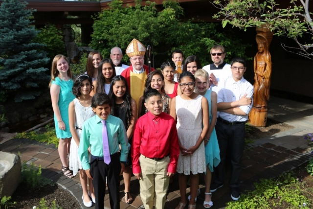 Bishop Cary and Confirmation Class of 2017